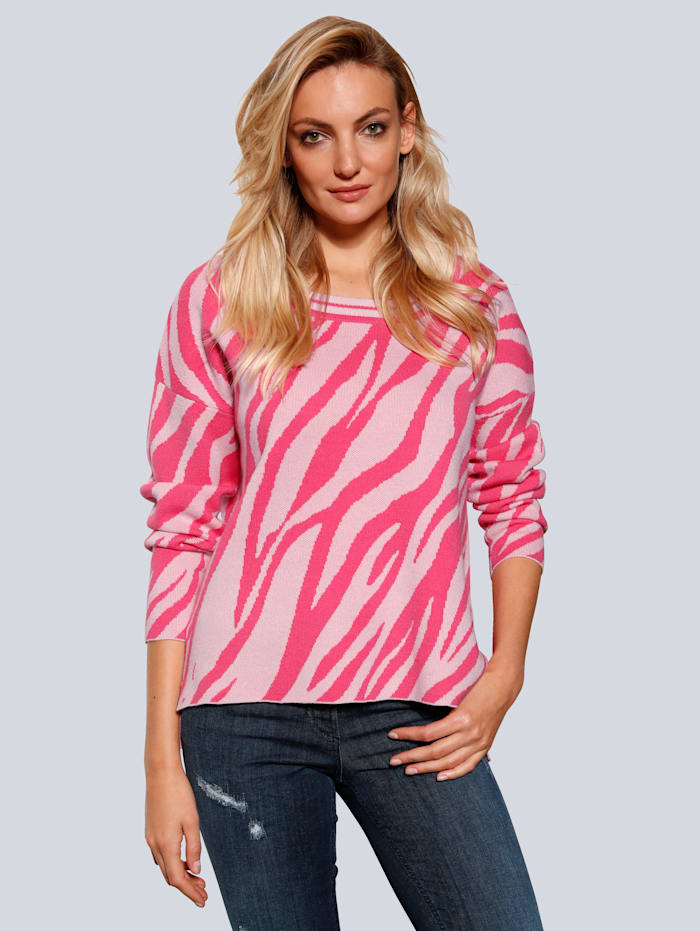 SPORTALM Pullover in lockerer Form, Rosé