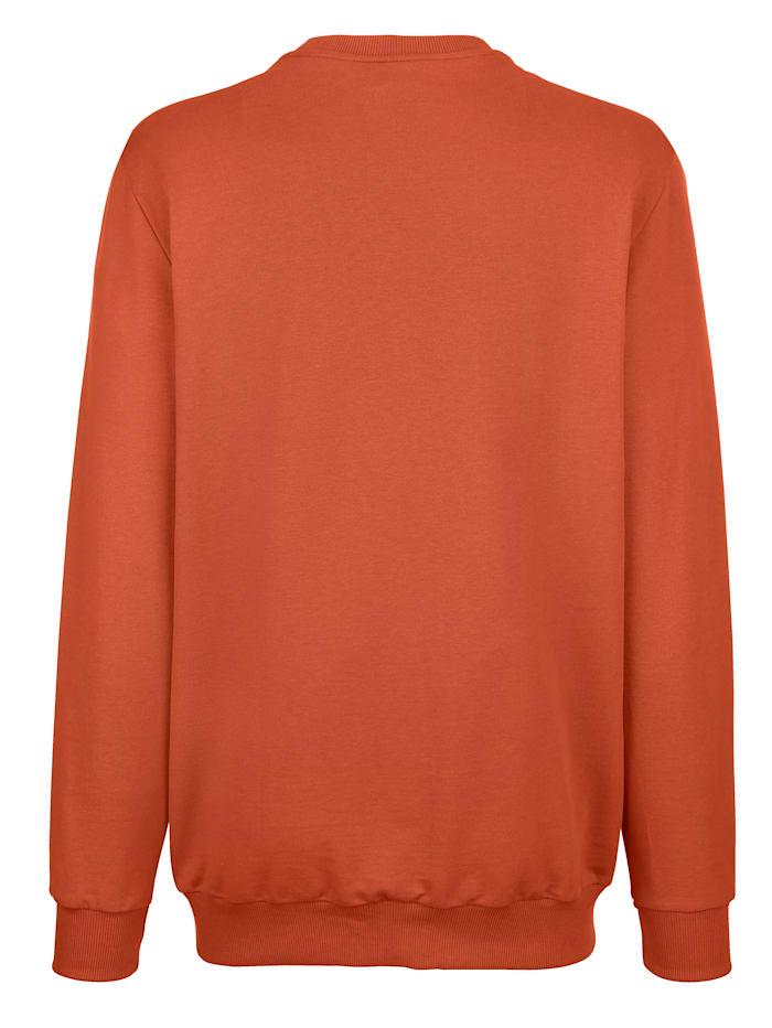 Sweatshirt mit Reliéf-Druck am Vorderteil