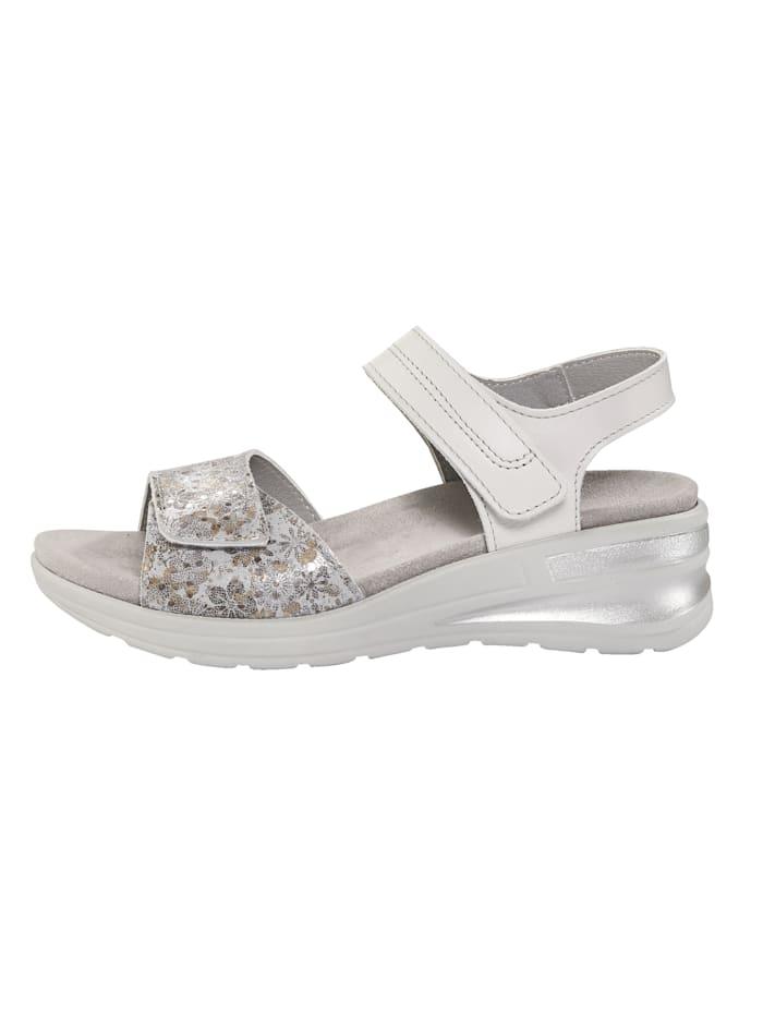 Sandales à très joli motif fleuri