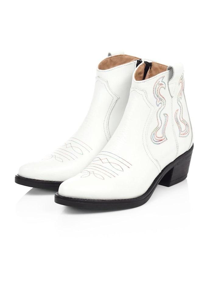 REKEN MAAR Cowboy-Boot, Weiß