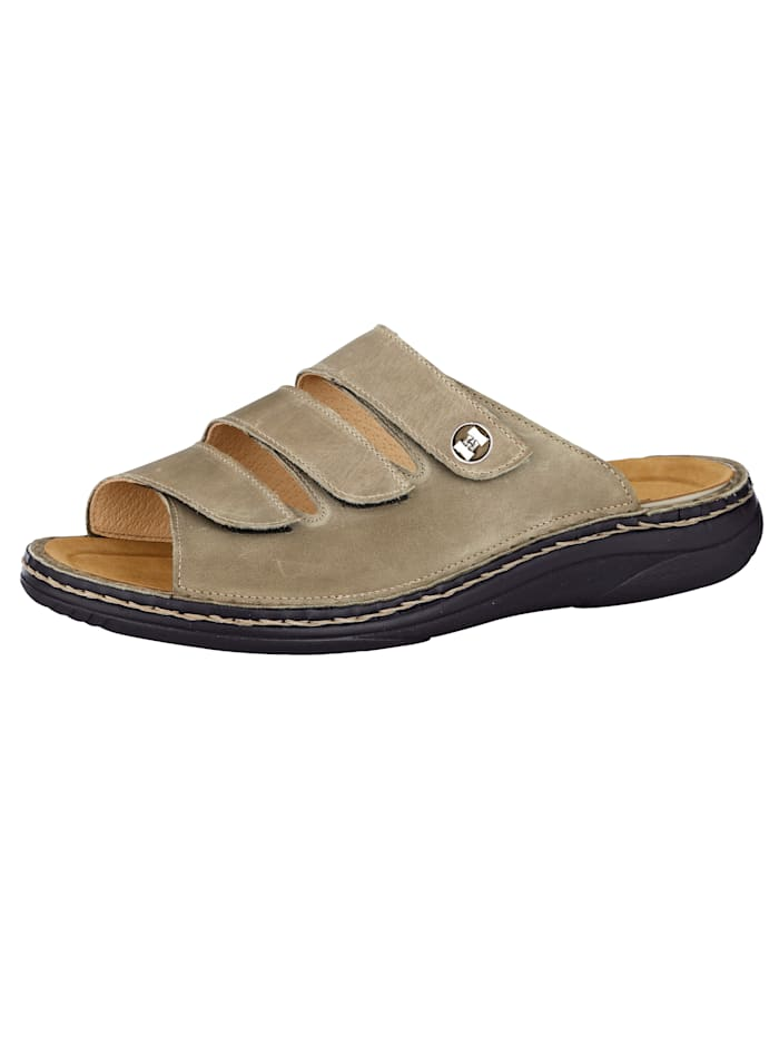 Mules doublure cuir, Taupe