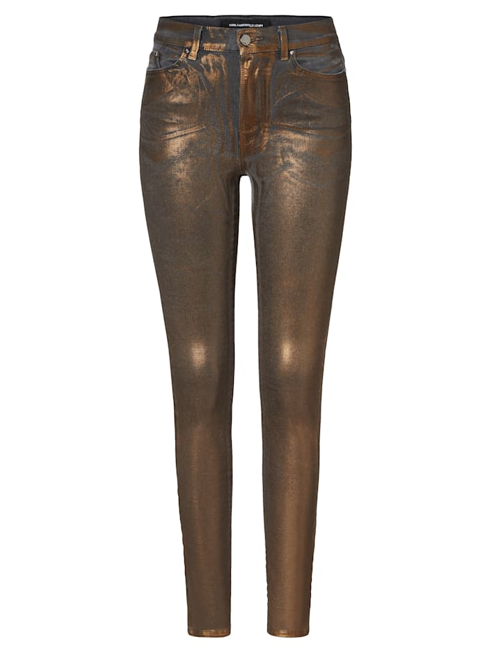 Karl Lagerfeld Denim Jeans, Goldfarben