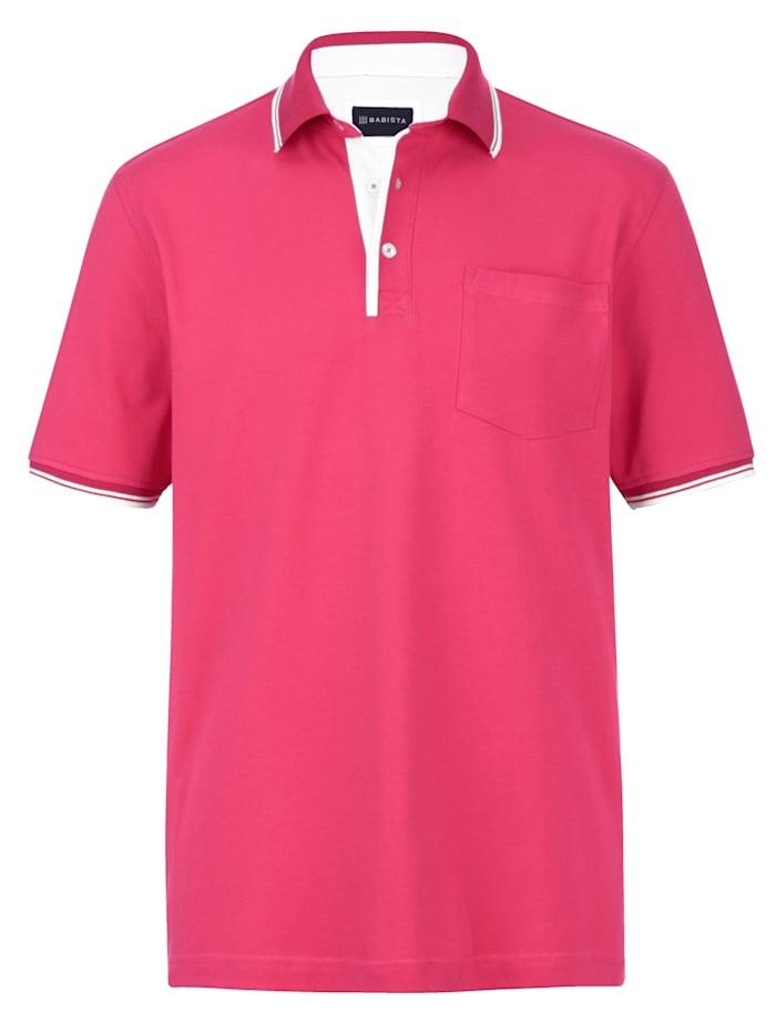 BABISTA Poloskjorte med brystlomme, Fuksia