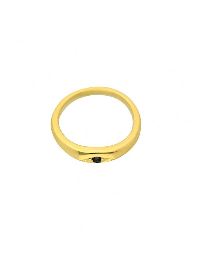 1001 Diamonds Damen Goldschmuck 585 Gold Anhänger Taufring mit Safir Ø 10,1 mm, blau