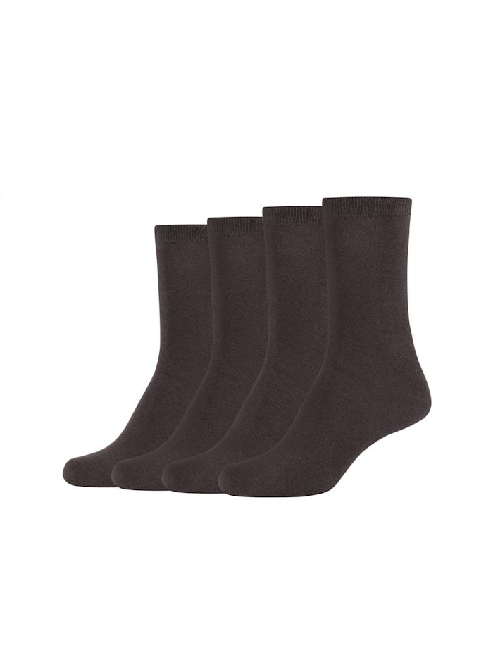 Gabor Socken-Set 4-teilig in schlichtem Design, chocolate