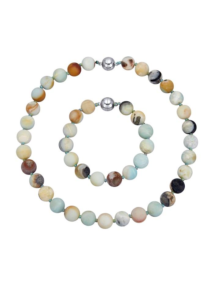 2-d. set šperků s amazonitem, Multicolor