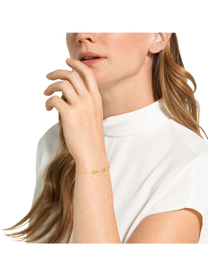CHRIST Gold Damen-Armband 375er Gelbgold 2 Peridot