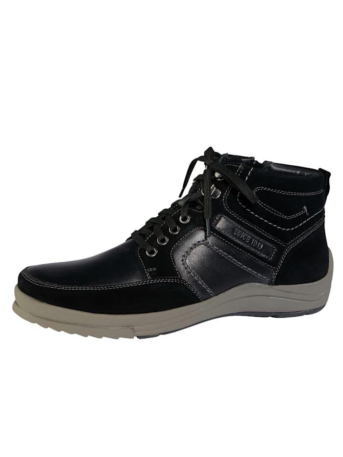 Ara Stiefel mit zusätzlichem Innenreißverschluss, Schwarz