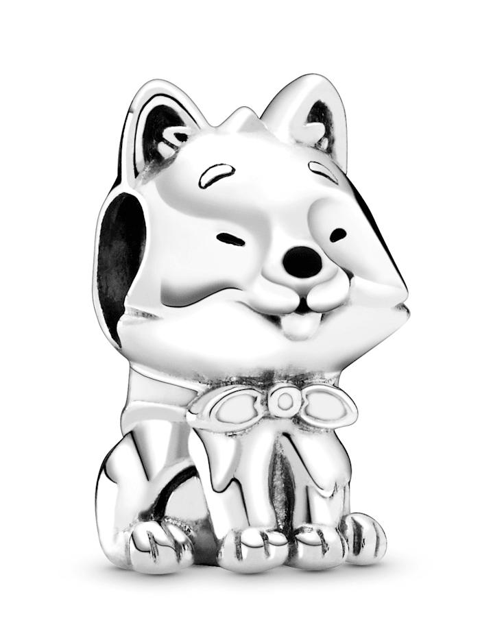 Pandora Charm -Japanischer Akita Hund-, Silberfarben