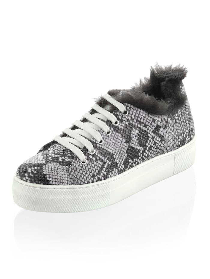 Alba Moda Sneaker aus Rindsleder, Grau