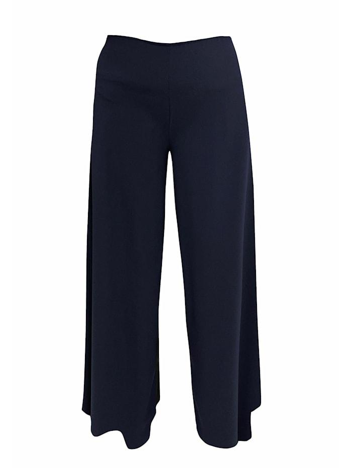 Wisell Palazzohose Weite Hose aus Chiffon, blau