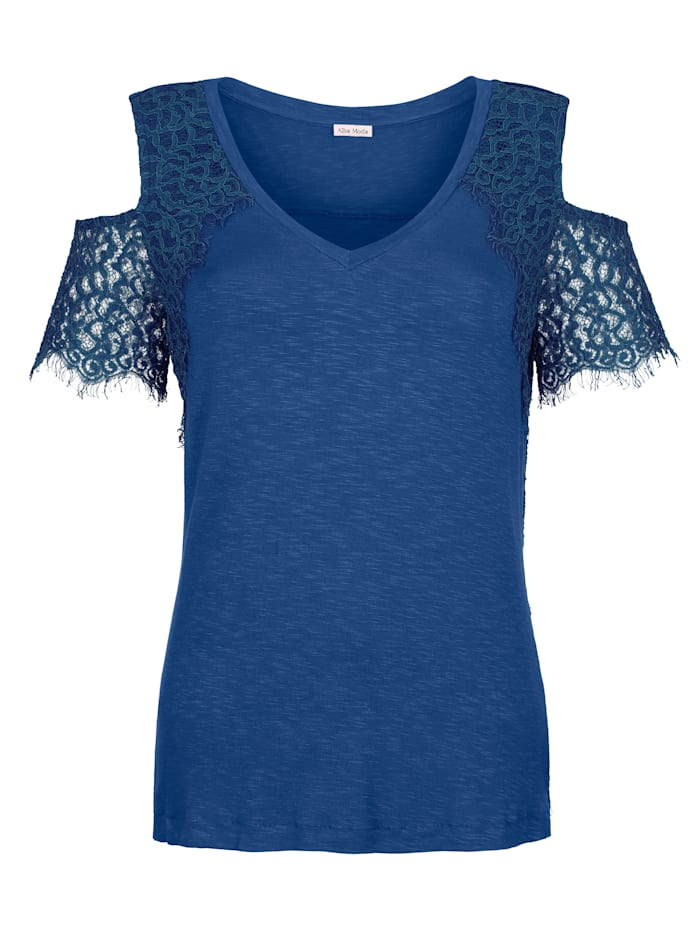 Alba Moda Strandshirt in offshoulder style, royal blue