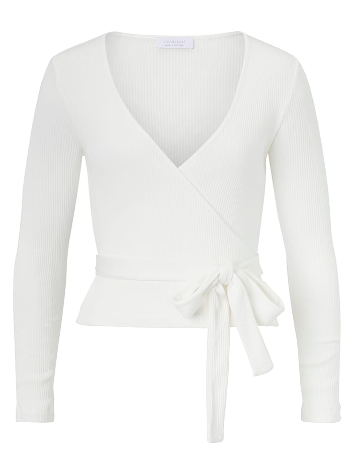 rich&royal Wickelcardigan, Off-white