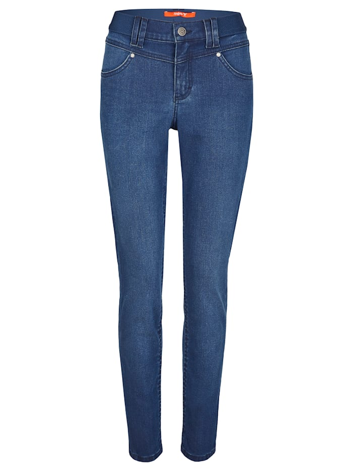 Angels Jeans 'One Size Authentic' mit unifarbenem Stoff, mid blue used