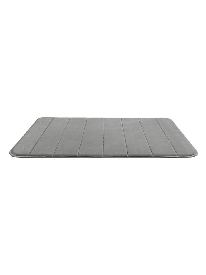 Badteppich Memory Foam Stripes, Light Grey, 50 x 80 cm