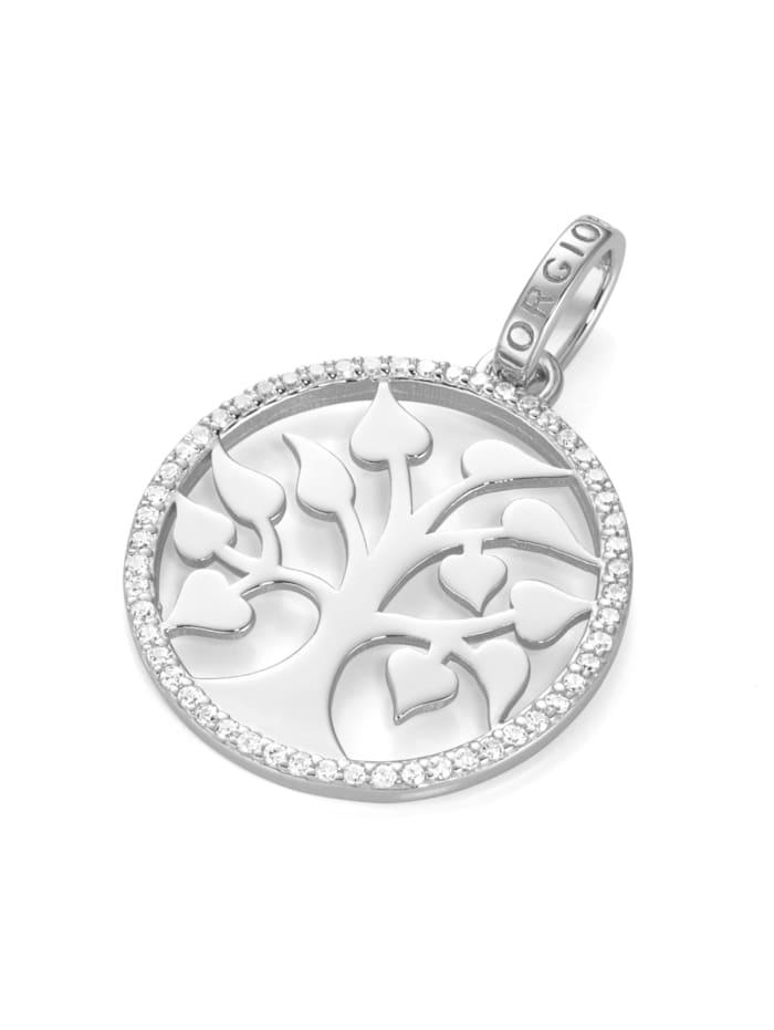 Giorgio Martello Anhänger Lebensbaum mit Zirkonia, Silber 925, Silber