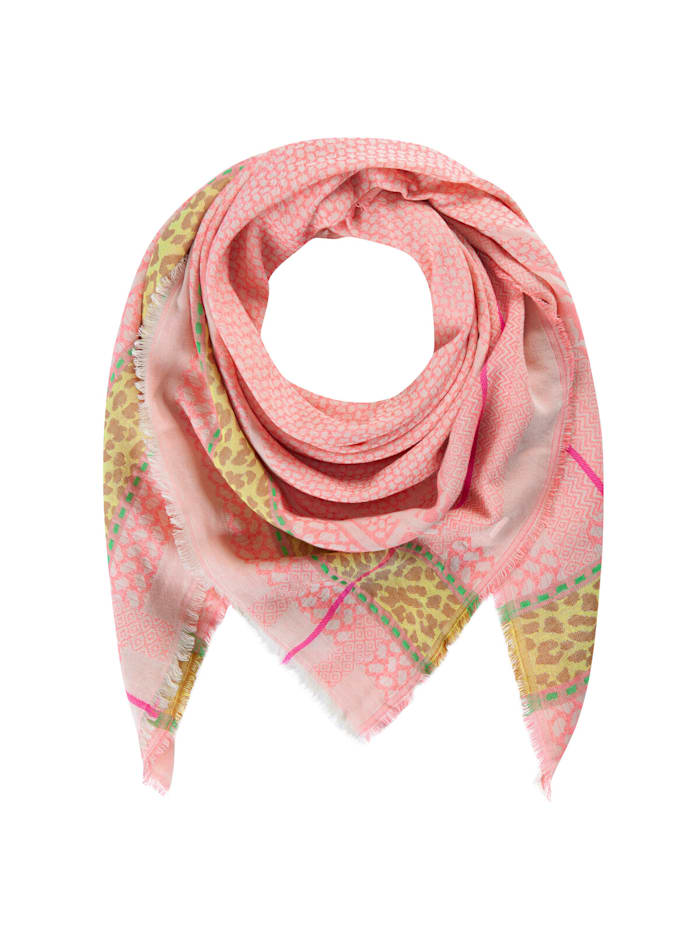 Codello Tuch mit exklusivem Jacquard-Muster, pink