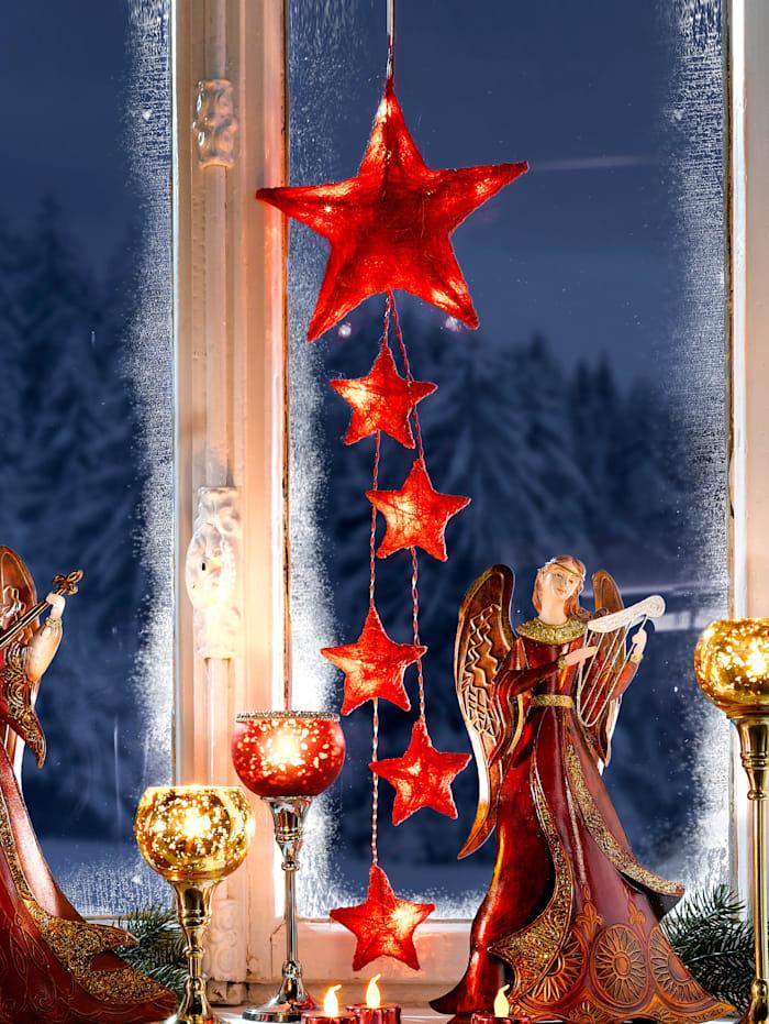 Guirlande d'étoiles LED, Rouge
