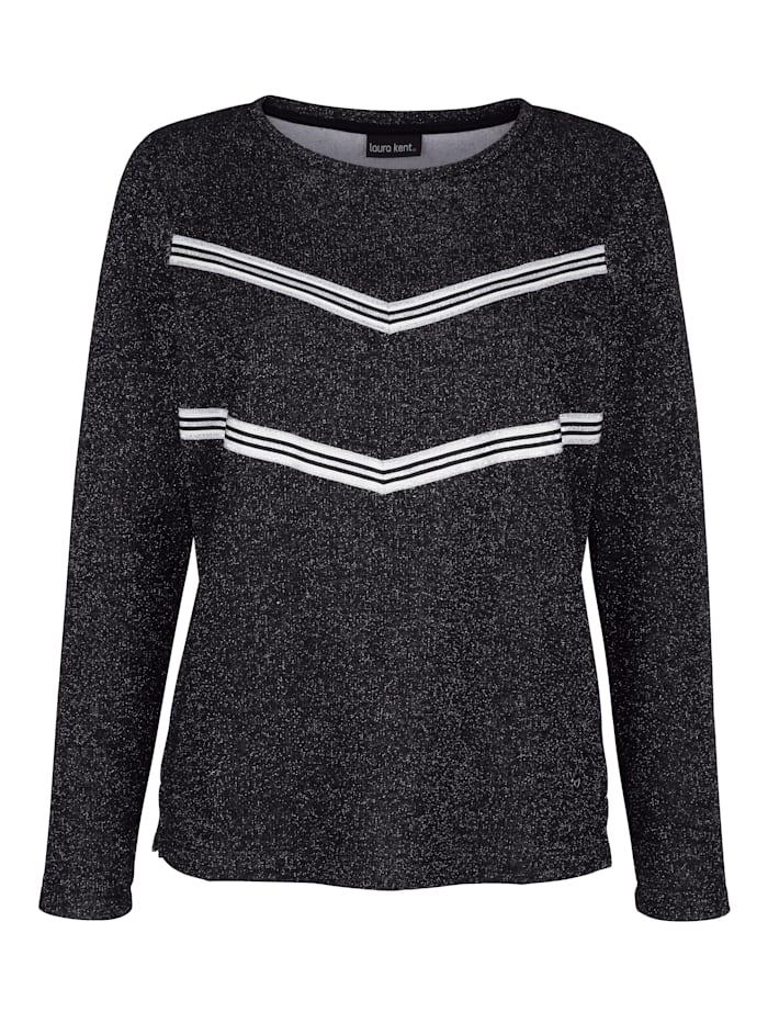 Sweatshirt mit metallisiertem Garn