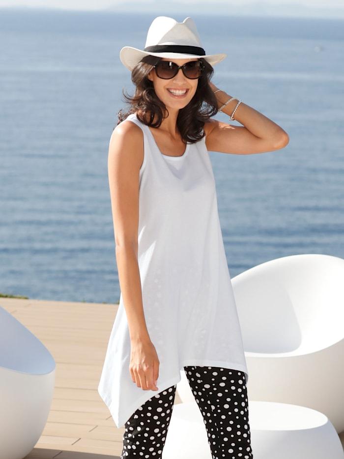 Maritim T-shirt de plage avec base en pointes, Blanc