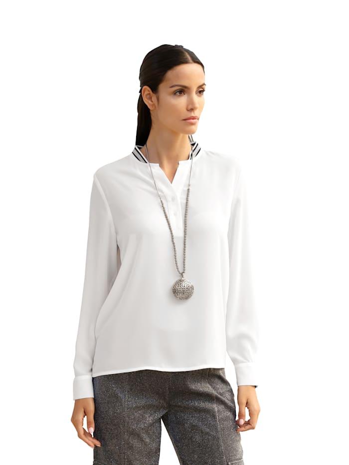 AMY VERMONT Bluse mit Stehkragen, Weiß