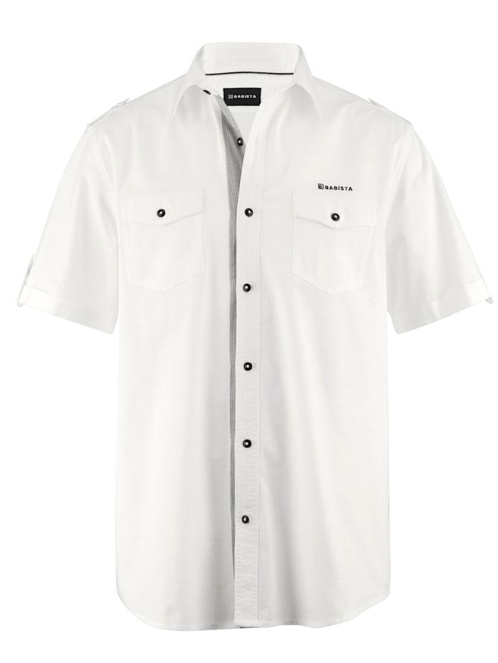 BABISTA Overhemd met subtiel streeppatroon, Wit