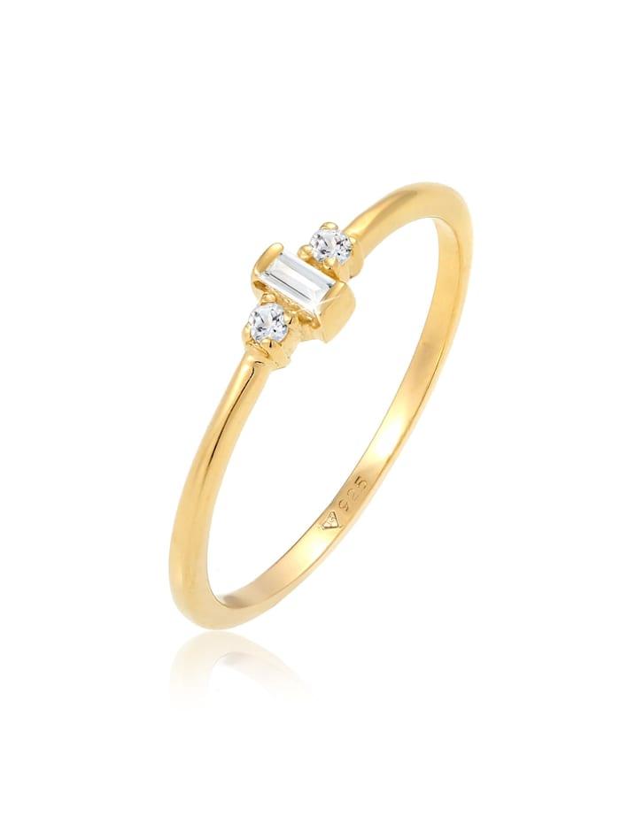 Elli Premium Ring Topas Edelsteine Verlobung 925 Sterling Silber, Gold