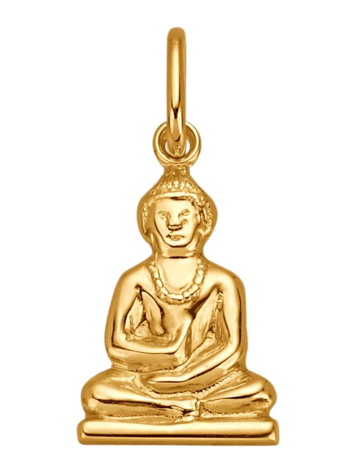 Buddha-Anhänger, Gelbgoldfarben