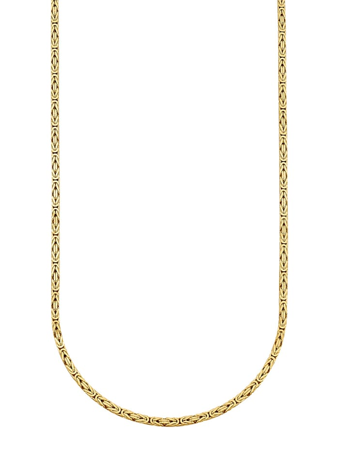 Halsband i kejsarlänk av silver 925, Guldfärgad