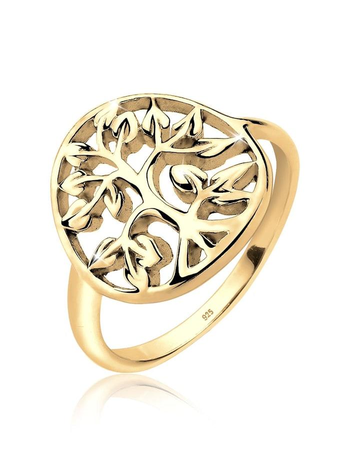Elli Ring Lebensbaum Floral 925Er Sterling Silber, Gold