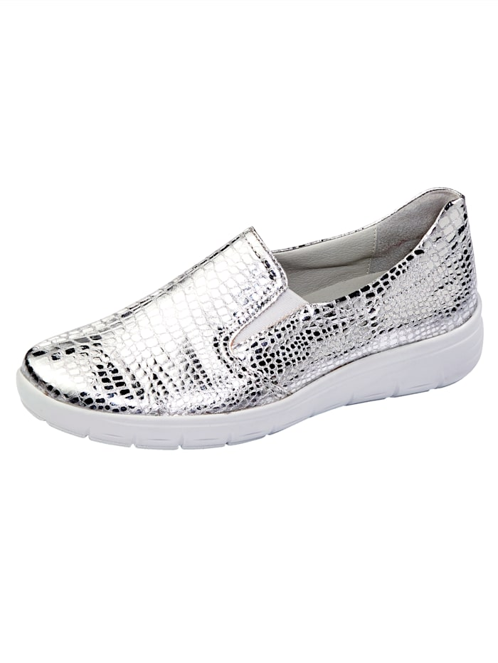 Vamos Slip-on shoes with shock absorbing sole, Silver-Coloured