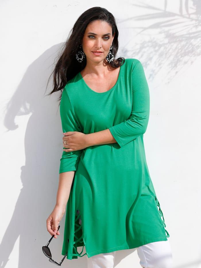 MIAMODA Longshirt Met bandje aan de mouwen, Groen