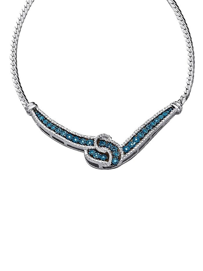 Collier mit blauen Diamanten