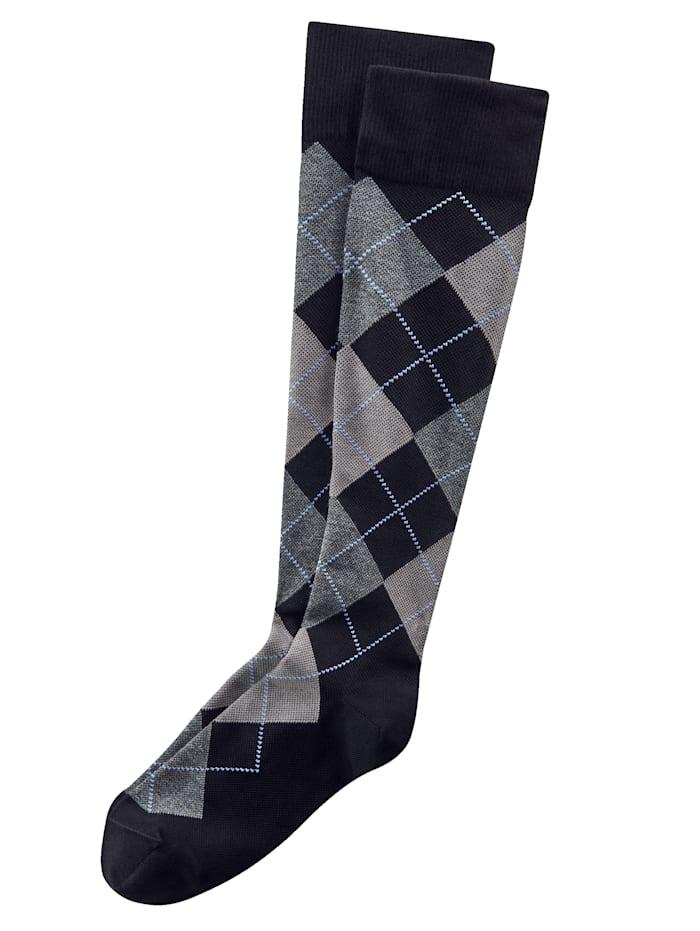 BABISTA Chaussettes de contention avec compression de 10-12 mmHg, Noir/Gris