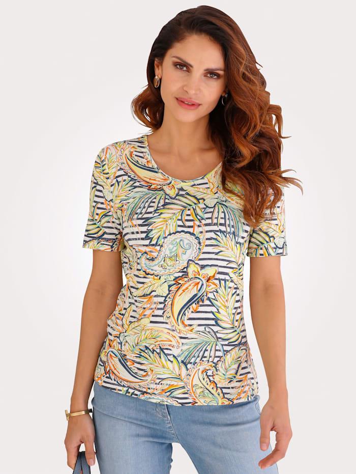 Barbara Lebek Shirt, Gelb/Ecru