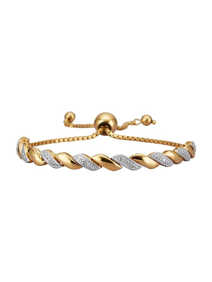 Armband mit Diamant, Gelbgoldfarben