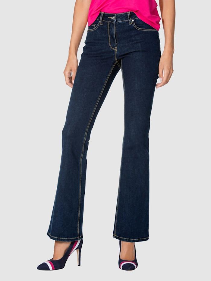 AMY VERMONT Jeans met Wide Leg, Donkerblauw