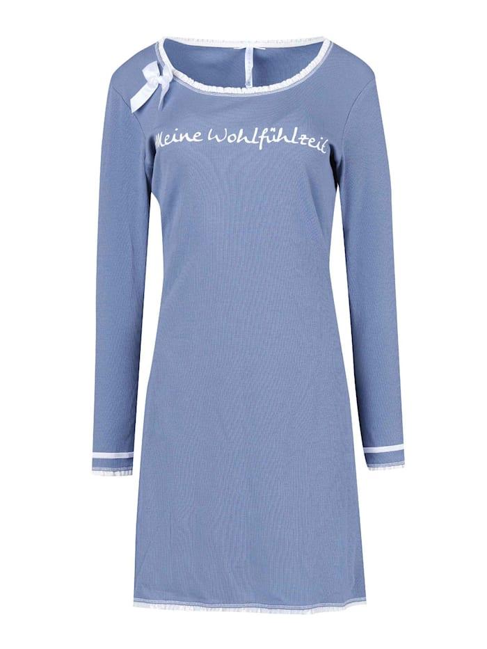 Louis & Louisa Nachthemd, Langarm Made in Europe, Blau