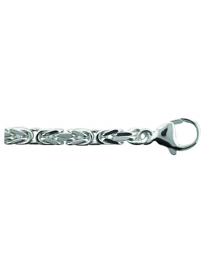 1001 Diamonds Damen Silberschmuck 925 Silber Königskette Armband 19 cm Ø 3,4 mm, silber