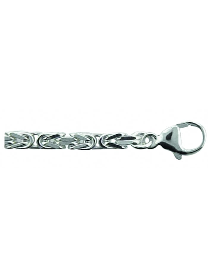 1001 Diamonds Damen Silberschmuck 925 Silber Königskette Halskette 45 cm Ø 3,4 mm, silber