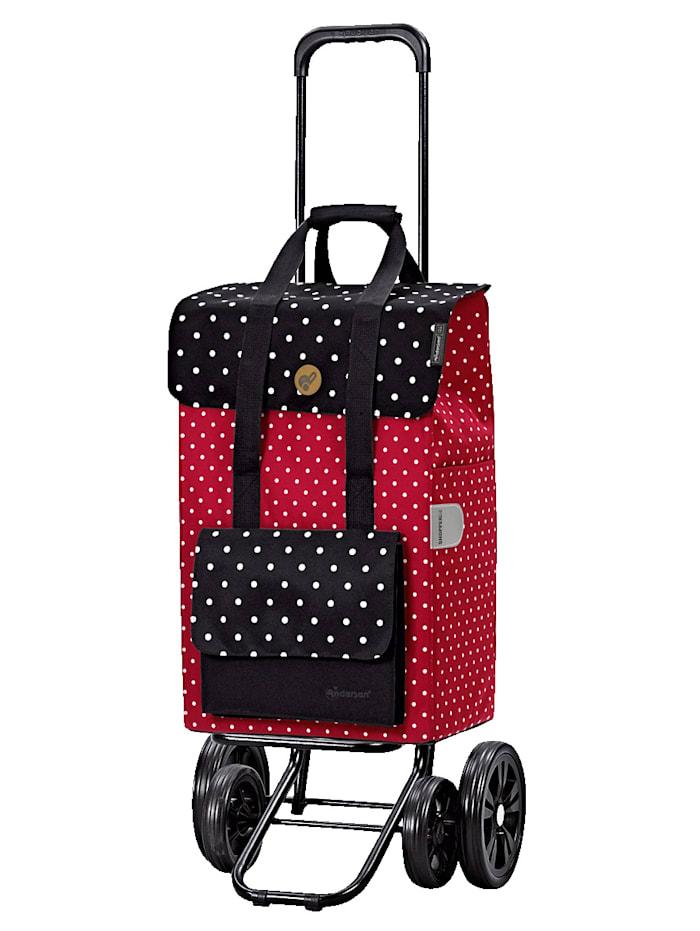 Andersen Andersen Quattro Shopper Rul, rot/schwarz