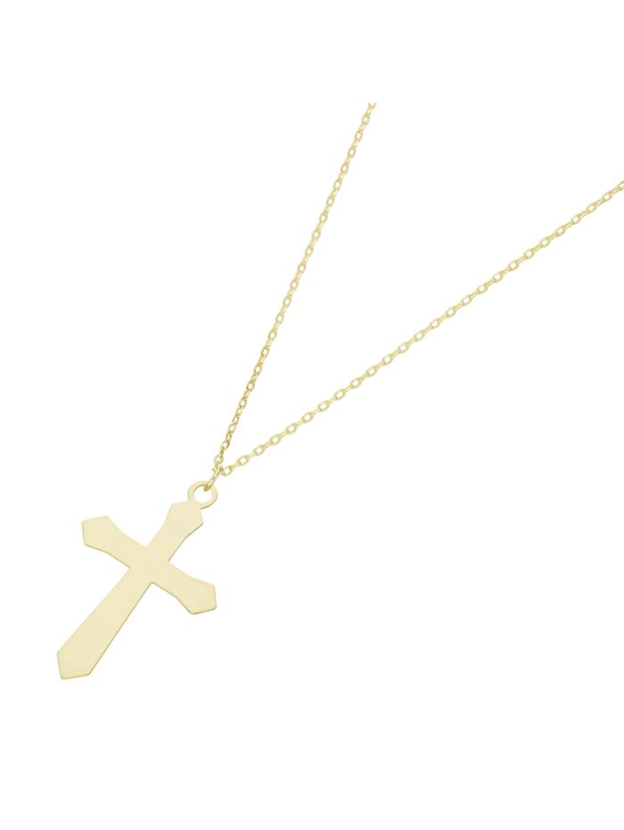 Luigi Merano Kette Kreuz, Gold 375, Gold