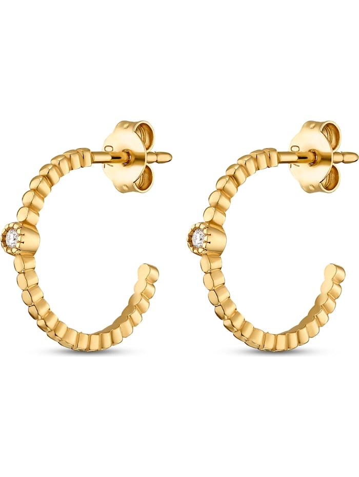 CHRIST C-Collection CHRIST Damen-Creolen 2 Diamant, gelbgold
