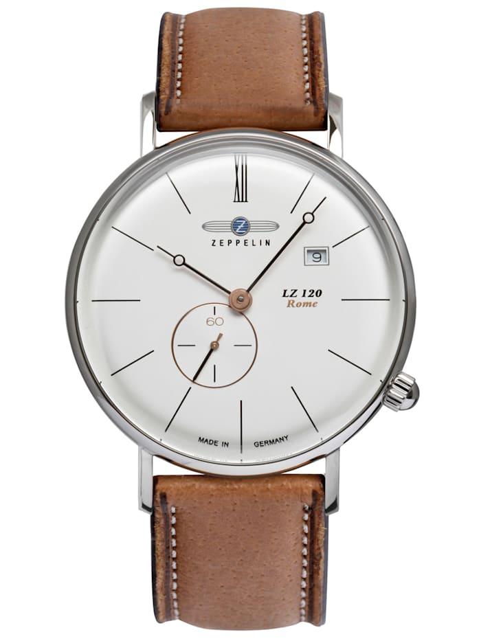 Zeppelin Herren-Armbanduhr LZ120 Rome, Silberfarben