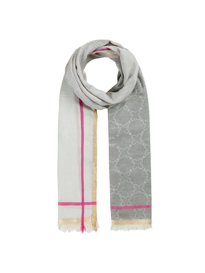 Codello Premium Logo-Schal mit Glamour-Appeal, grey