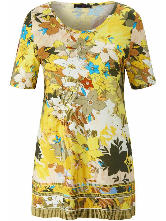Emilia Lay Shirt Rundhalsshirt ., gelb/multicolor