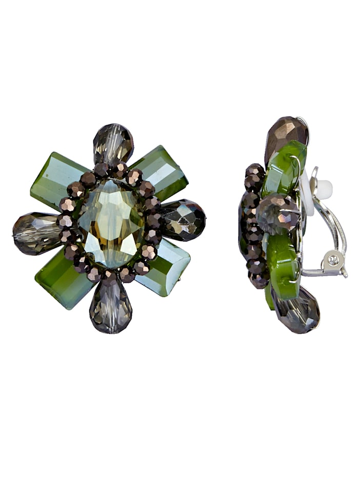 Earrings with glass stones
