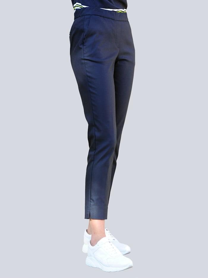 Alba Moda Pantalon de coupe confortable, Marine