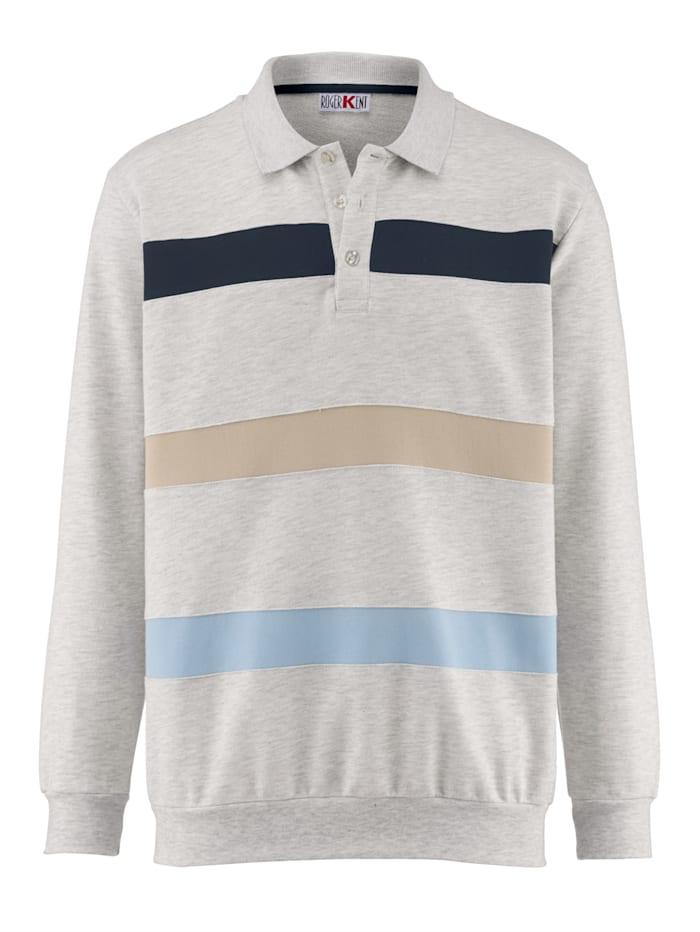 Sweatshirt mit eingesetzten Kontraststreifen
