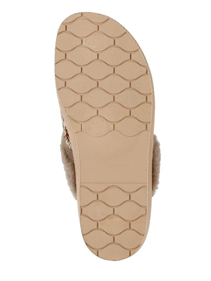 Nazouv.obuv s hřejivou jehněčí vlnou